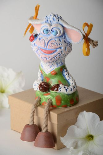 Unusual handmade ceramic figurine clay statuette the living room home decoration - MADEheart.com