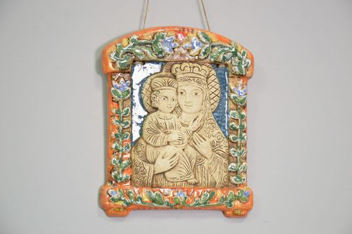 Ceramic icon of the Mother of God - MADEheart.com