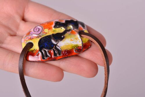 Unusual jewelry designer bright accessory fashionable bracelet and pendant - MADEheart.com