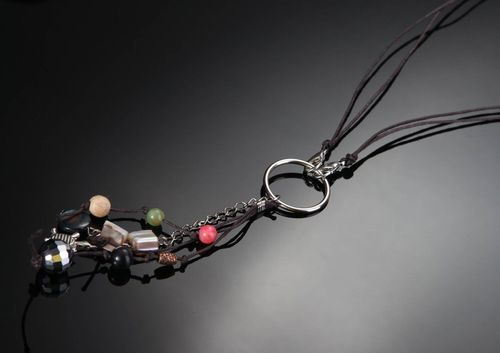 Necklace with natureal stones - MADEheart.com