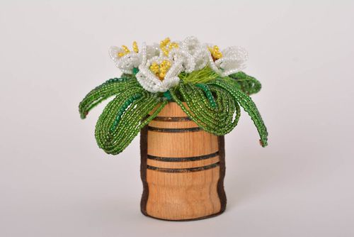 Beaded flowers handmade artificial flowers for decorative use only cool gifts - MADEheart.com