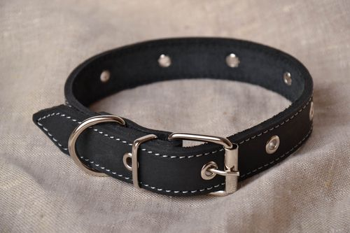 Homemade leather collar - MADEheart.com