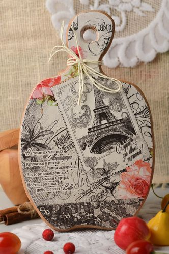 Handmade decoupage cutting board kitchen decor ideas decorative use only - MADEheart.com