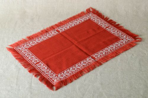 Red beautiful napkin decorative handmade napkin embroidered home textile - MADEheart.com