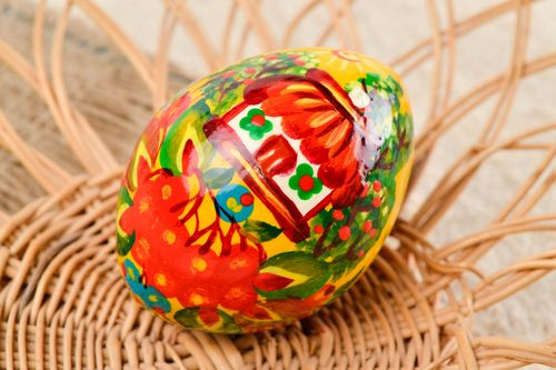 Beautiful handmade Easter egg painted wooden egg gift ideas decorative use only - MADEheart.com