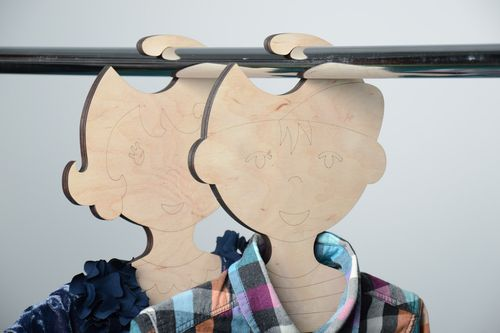 Unusual childrens clothes hanger Boy - MADEheart.com