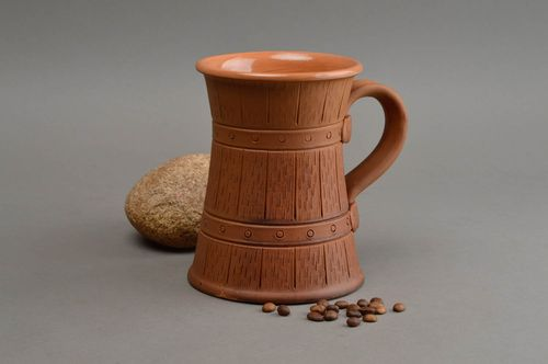 Beautiful handmade ceramic beer mug clay beer mug ideas handmade pottery - MADEheart.com