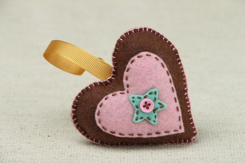 Soft Christmas tree decoration Heart - MADEheart.com