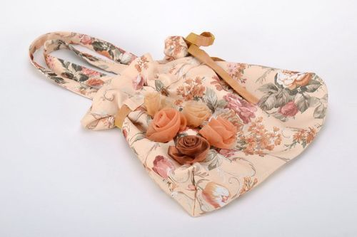 Cotton womens bag with flowers - MADEheart.com