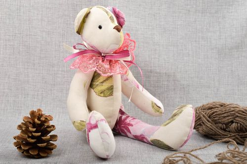 Unusual handmade soft toy cute childrens toys stuffed bear toy gift ideas - MADEheart.com