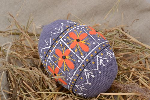 Colorful handmade fabric soft interior pendant Easter egg holiday gift - MADEheart.com