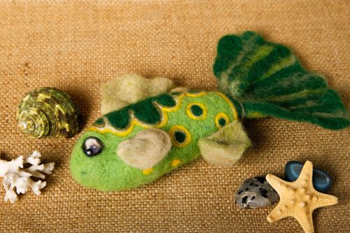 Handmade felted wool toy fridge magnet home design decorative use only - MADEheart.com