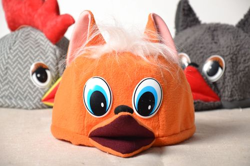 Carnival hat in the shape of a fox head - MADEheart.com