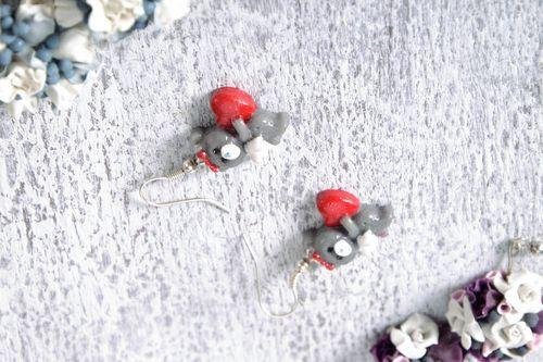 Earrings Bears - MADEheart.com