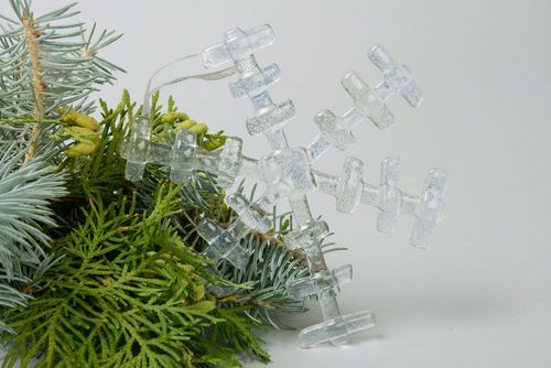 New Years glass decoration Snowflake - MADEheart.com