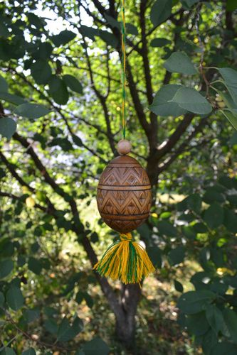 Easter egg handmade wood decoration wooden egg wall decor Easter gift ideas - MADEheart.com