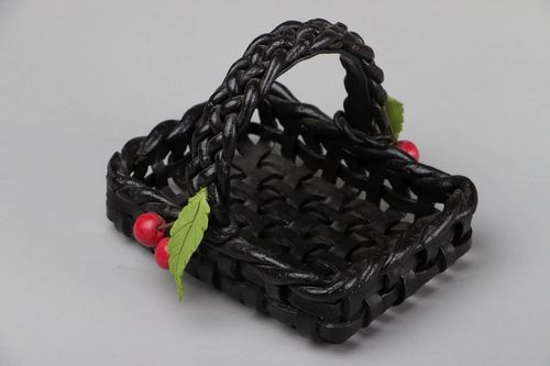 Wicker basket with cherries - MADEheart.com