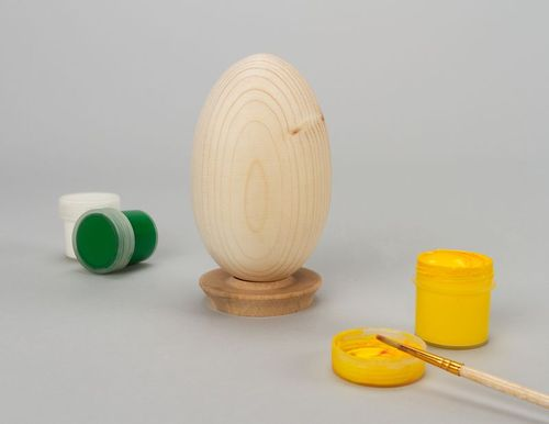 Wooden blank for painted egg - MADEheart.com