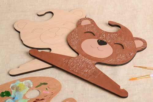 Children handmade clothes hanger designer wooden accessory for interior - MADEheart.com