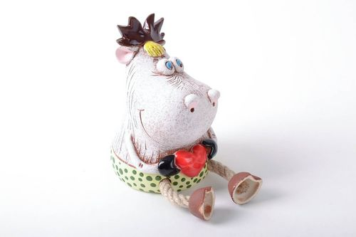 Clay money box Elk in Love - MADEheart.com