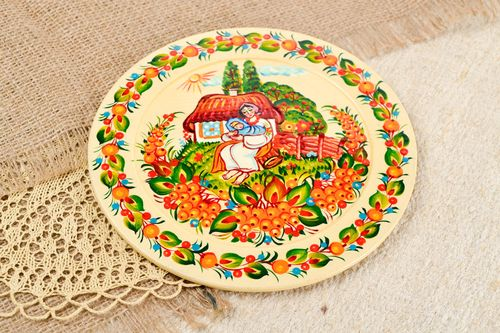Decorative plate handmade wooden plate for decorative use only wooden gifts - MADEheart.com