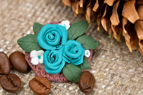 Womens handmade brooch jewelry plastic flower brooch fashion tips gifts for her - MADEheart.com