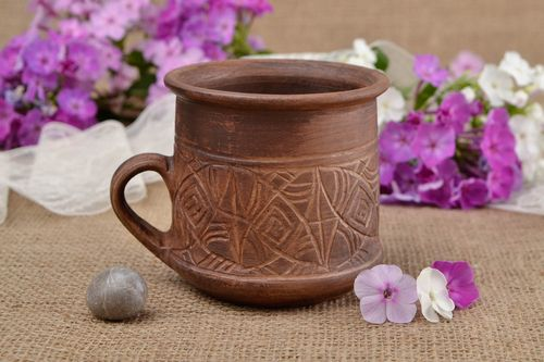Handmade tea cup designer tea cup clay cup kitchen interior ideas unusual gift - MADEheart.com