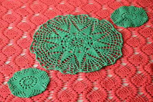 Lace napkin handmade crocheted napkin table decor kitchen decor ideas - MADEheart.com