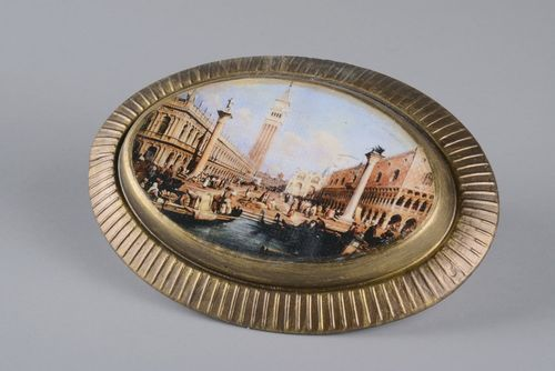 Plaster panel with gilding Venice - MADEheart.com