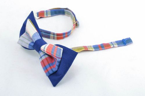 Fabric checkered bow tie - MADEheart.com