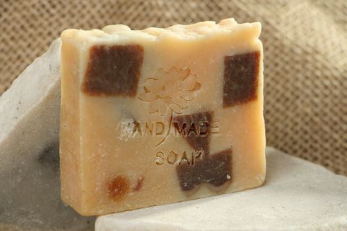 Handmade soap with pumpkin oil - MADEheart.com