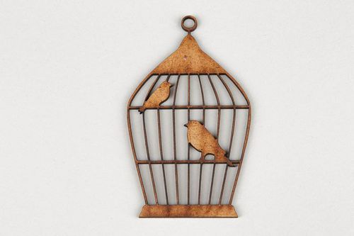 Chipboard Birds in the cage - MADEheart.com