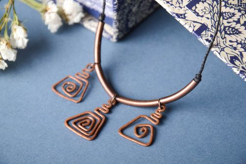 Handmade metal pendant copper accessories fashion jewelry fashion accessories - MADEheart.com
