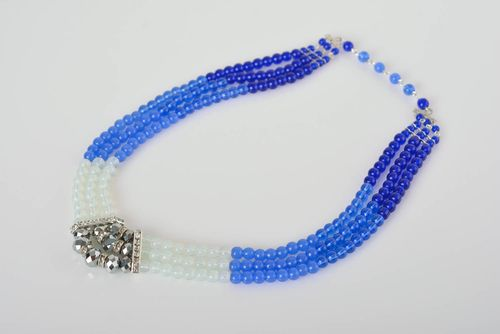 Beautiful handmade beaded necklace artisan jewelry woven bead necklace - MADEheart.com