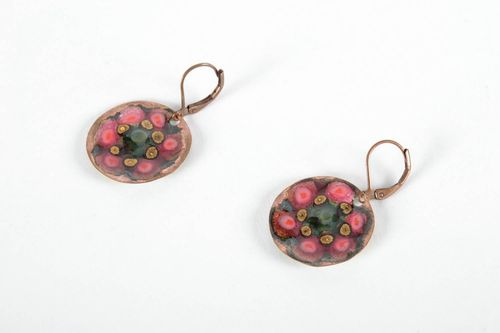 Round copper earrings - MADEheart.com