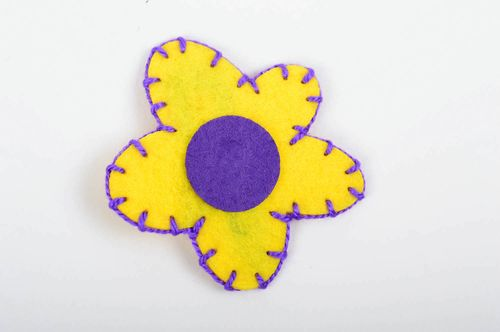 Hair clip in shape of flower children accessory gift wonderful hair clip - MADEheart.com