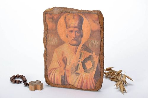 Icon reproduction Saint Nicholas - MADEheart.com
