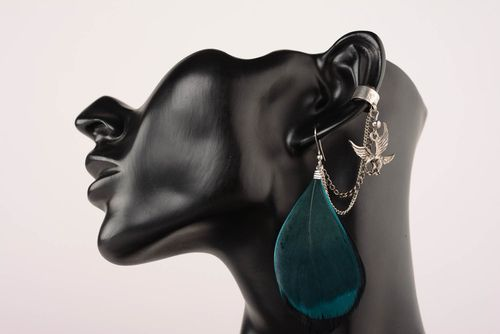 Cuff earrings Turquoise - MADEheart.com