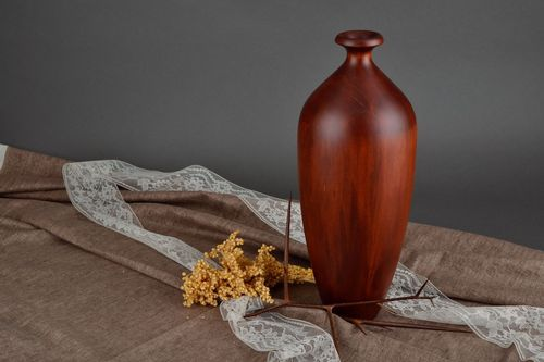 15 inches maple wood elegant vase for home décor 4 lb - MADEheart.com