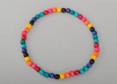 Wooden colorful beads - MADEheart.com