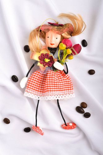 Unusual handmade rag doll collectible dolls nursery design decorative use only - MADEheart.com