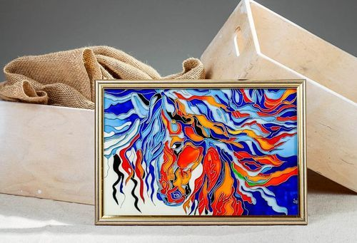 Stained glass picture Horse - MADEheart.com