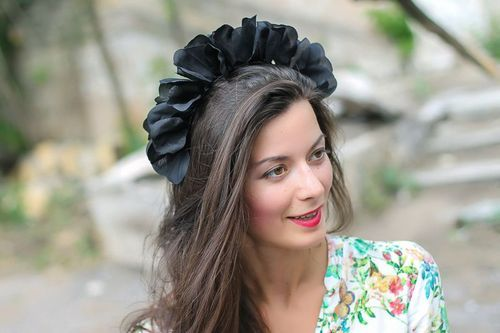 Large hair band Black Swan - MADEheart.com