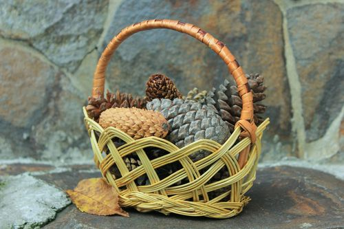 Decorative basket with handle  - MADEheart.com