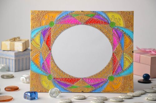 Bright stained glass photo frame - MADEheart.com