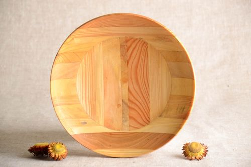 Handmade decorative wall plate wooden plate designs wood craft kitchen design - MADEheart.com