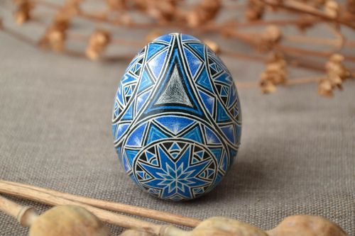 Handmade Easter egg painted with aniline dyes - MADEheart.com