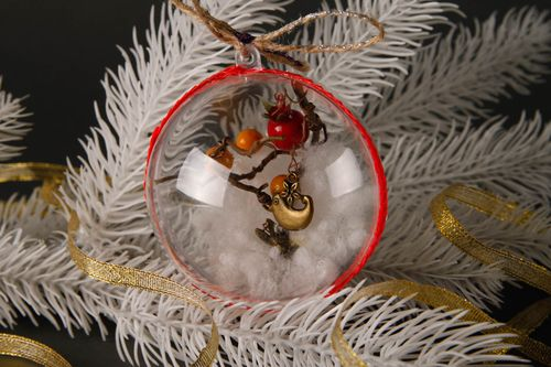 Handmade Christmas tree decor stylish Christmas toys decorative use only - MADEheart.com