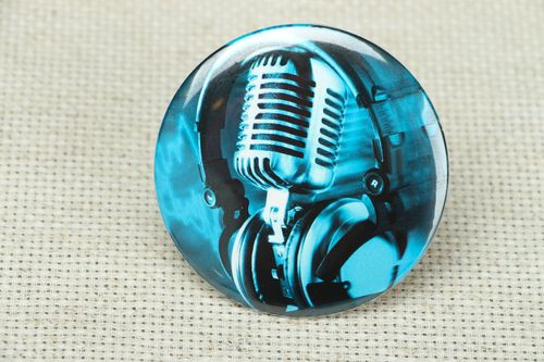 Small metal mirror Microphone - MADEheart.com