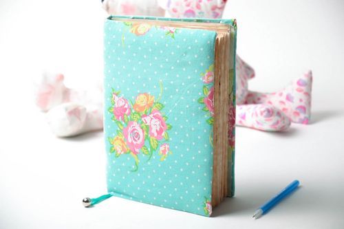 Designers notebook with soft cover and bookmark - MADEheart.com